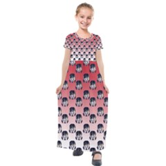 Forest Girl Gradient Red Kids  Short Sleeve Maxi Dress by snowwhitegirl