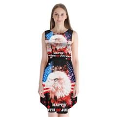 Happy 4th Of July Sleeveless Chiffon Dress   by FantasyWorld7
