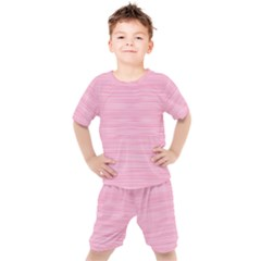 Pink Knitting Pattern Kids  Tee And Shorts Set by goljakoff