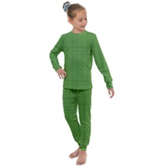 Green Knitting Pattern Kids  Long Sleeve Set  by goljakoff