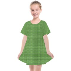 Green Knitting Pattern Kids  Smock Dress by goljakoff