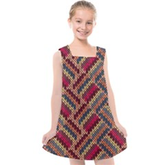 Red Knitting Pattern Kids  Cross Back Dress by goljakoff
