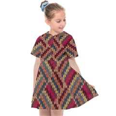 Red Knitting Pattern Kids  Sailor Dress by goljakoff