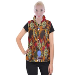 Sunflower Collage Women s Button Up Vest