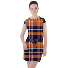 Tartan Pattern Drawstring Hooded Dress by ArtworkByPatrick