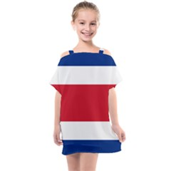 National Flag Of Costa Rica Kids  One Piece Chiffon Dress by abbeyz71
