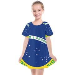 National Seal Of Brazil Kids  Smock Dress by abbeyz71