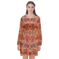 Rp 3 Long Sleeve Chiffon Shift Dress