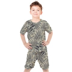 Hundred Dollars Kids  Tee And Shorts Set by snowwhitegirl
