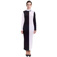 Wow Black White Ray Turtleneck Maxi Dress by wowclothings
