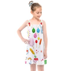 Summer Fair Food Goldfish Kids  Overall Dress by Nexatart