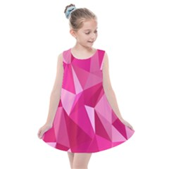 Pattern Halftone Geometric Kids  Summer Dress by Nexatart
