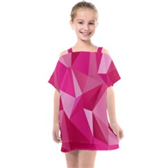 Pattern Halftone Geometric Kids  One Piece Chiffon Dress by Nexatart