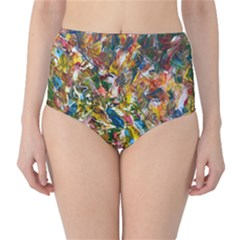 Untitled (colorful) Big Image Classic High Waist Bikini Bottoms by paigeelizabethwarmington