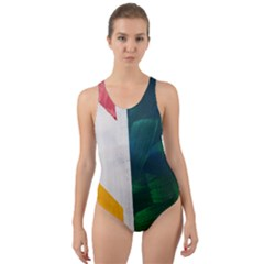 True Colors 2 Big Image Cut Out Back One Piece Swimsuit by paigeelizabethwarmington