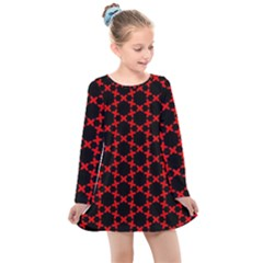 Pattern Seamless Texture Design Kids  Long Sleeve Dress by Nexatart