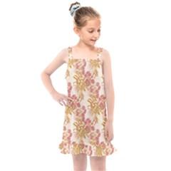 Scrapbook Floral Decorative Vintage Kids  Overall Dress by Nexatart