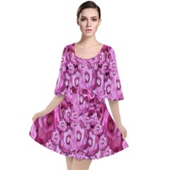 Happy Florals  Giving  Peace Ornate Velour Kimono Dress by pepitasart