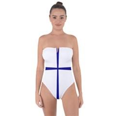 Byzantine Cross Tie Back One Piece Swimsuit