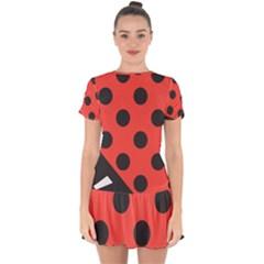 Bug Cubism Flat Insect Pattern Drop Hem Mini Chiffon Dress by BangZart