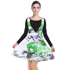 Horse Animal World Green Plunge Pinafore Dress by BangZart