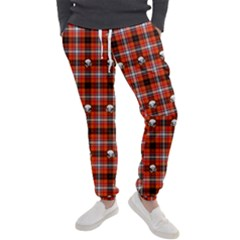 Plaid   Red With Skulls Men s Jogger Sweatpants by WensdaiAmbrose