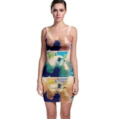 Washed Out Snowball Branch Collage (iv) Bodycon Dress by okhismakingart