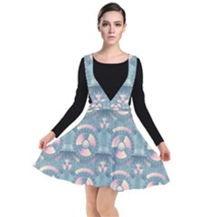Seamless Pattern Seamless Design Plunge Pinafore Dress