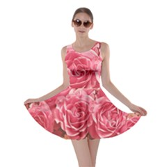Roses Noble Roses Romantic Pink Skater Dress