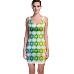 Background Colorful Geometric Bodycon Dress