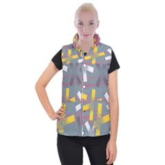 Background Abstract Non Seamless Women s Button Up Vest by Pakrebo