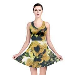 Yellow Snowballs Reversible Skater Dress by okhismakingart