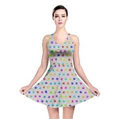 Social Disease   Polka Dot Design Reversible Skater Dress by WensdaiAmbrose