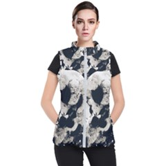 High Contrast Black And White Snowballs Women s Puffer Vest by okhismakingart