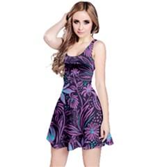 Stamping Reversible Sleeveless Dress