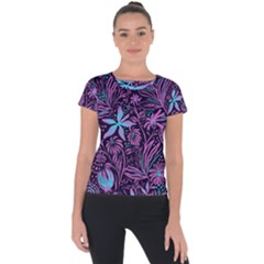 Stamping Short Sleeve Sports Top  by Sobalvarro