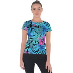 Leaves  Short Sleeve Sports Top