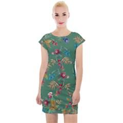 Tropical Paradise Cap Sleeve Bodycon Dress by tarastyle