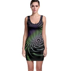 Fractal Fantasy Texture Purple Bodycon Dress