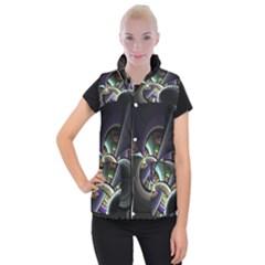 Fractal Fractal Art Multi Color Women s Button Up Vest by Pakrebo