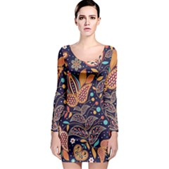 Paisley Long Sleeve Bodycon Dress by Wmcs91
