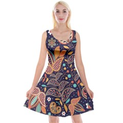 Paisley Reversible Velvet Sleeveless Dress by Sobalvarro