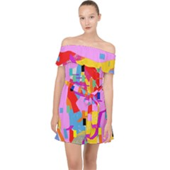 Confetti Nights 2a Off Shoulder Chiffon Dress by impacteesstreetweartwo