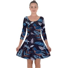 Birds In The Nature Quarter Sleeve Skater Dress by Wmcs91