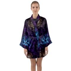 Geometry Fractal Colorful Geometric Long Sleeve Kimono Robe
