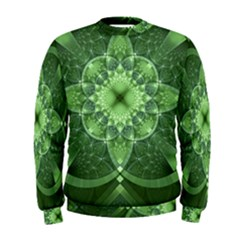 Fractal Green St Patrick S Day Men s Sweatshirt