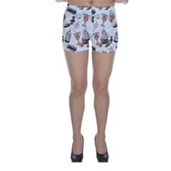 Hufflepuff Pattern Skinny Shorts by Sobalvarro