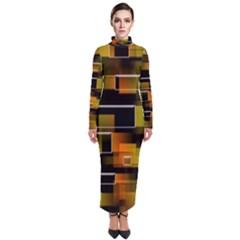 Pattern Wallpaper Background Turtleneck Maxi Dress