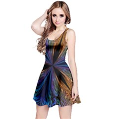 Abstract Background Kaleidoscope Reversible Sleeveless Dress