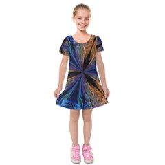 Abstract Background Kaleidoscope Kids  Short Sleeve Velvet Dress